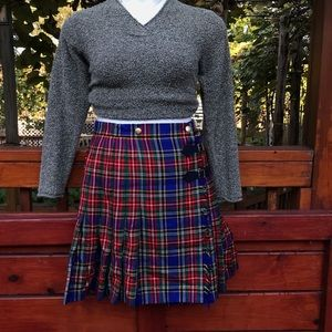 ESCADA PLAID SKIRT
